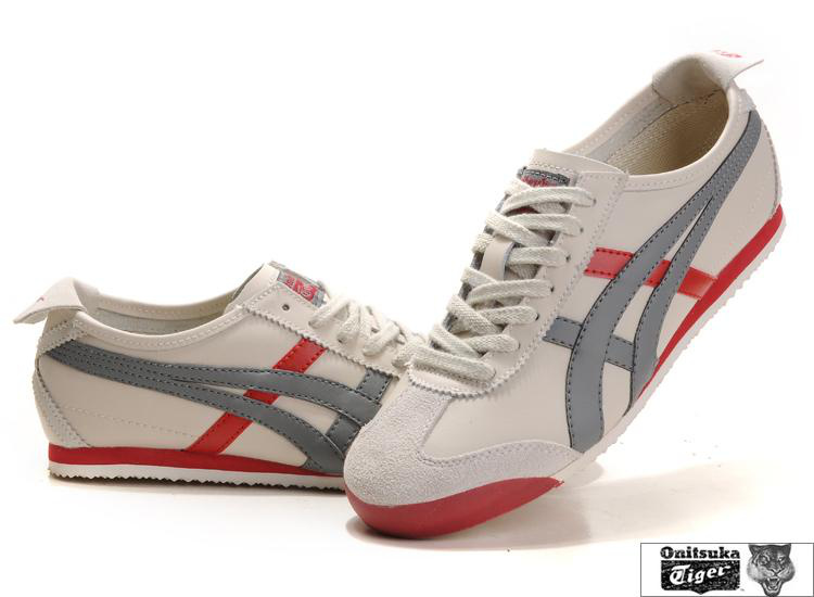 Onitsuka Tiger Mexico 66 Beige Grey Red