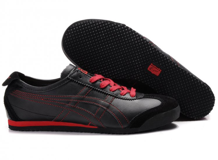 Onitsuka Tiger Mexico 66 Black Red Shoes