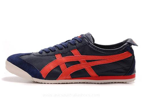Onitsuka Tiger Mexico 66 Shoes Navy Red