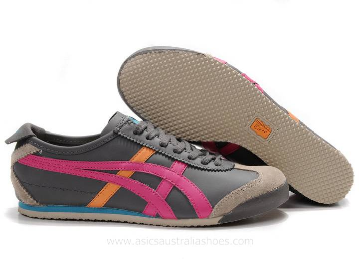 Onitsuka Tiger Mexico 66 Trainers Grey Pink