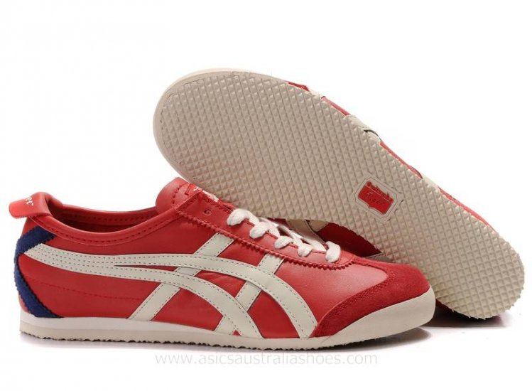 Onitsuka Tiger Mexico 66 Trainers Red Beige