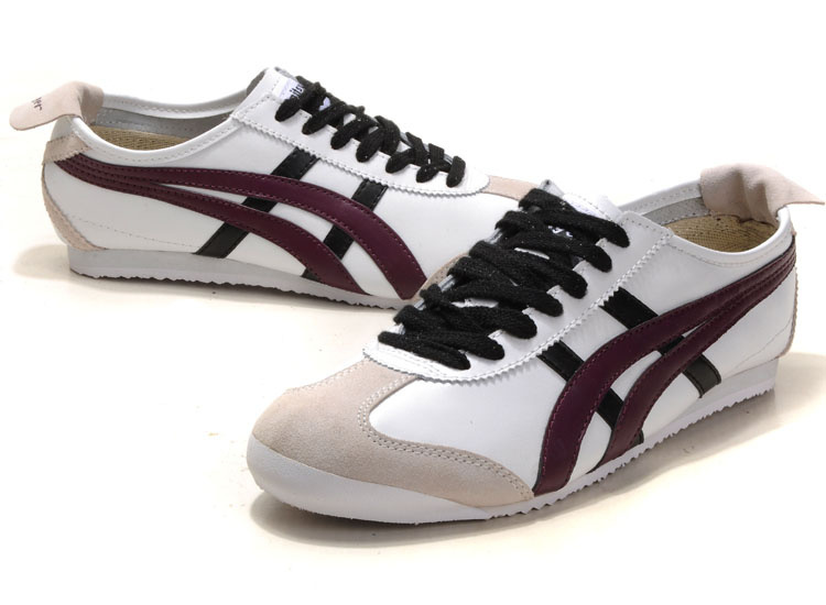 Onitsuka Tiger Mexico 66 White Dark Red Black Grey