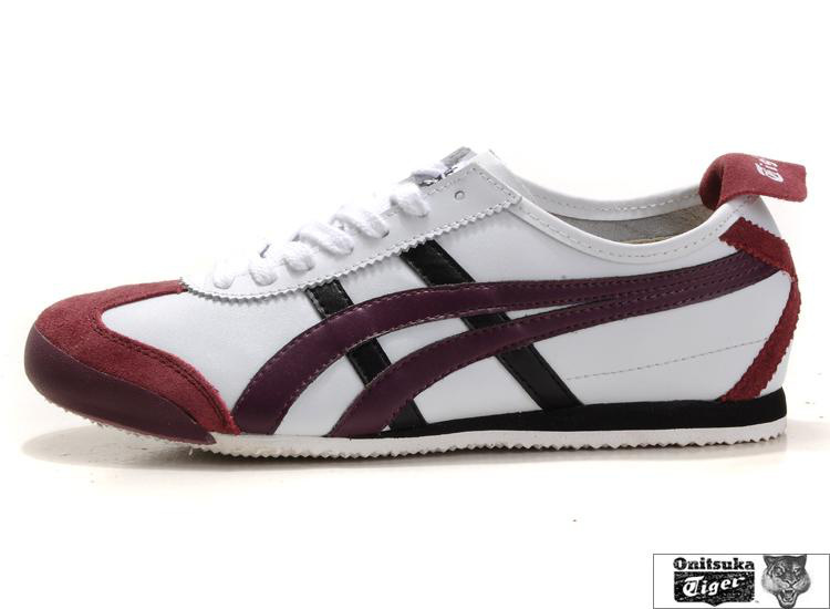Onitsuka Tiger Mexico 66 White Dark Red Black