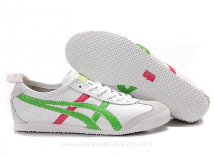 Onitsuka Tiger Mexico 66 White Green Red Shoes