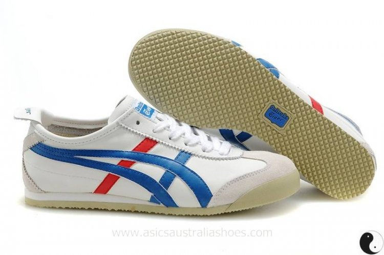 Onitsuka Tiger Mexico 66 Women's Shoes White/Blue/Red