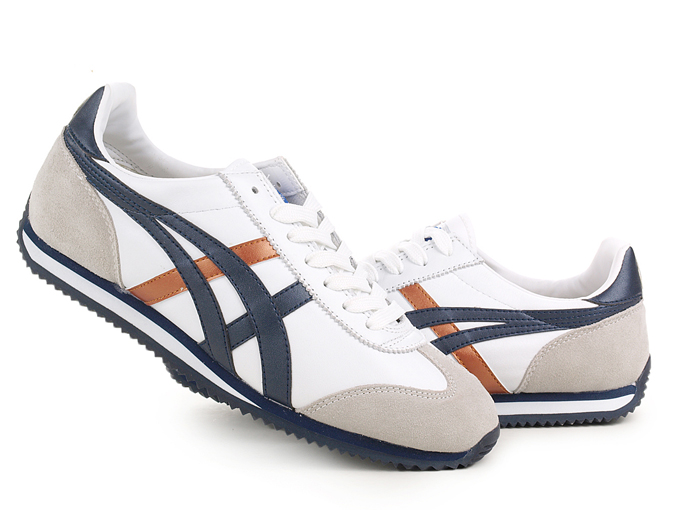 Asics California 78 Shoes Dark Blue Brown White Grey