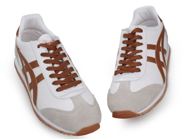 Asics California Womens Shoes White Beige Brown