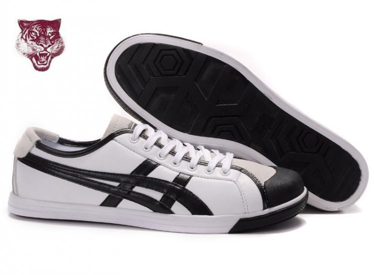 Asics Coolidge Lo Leather Shoes White Black Beige