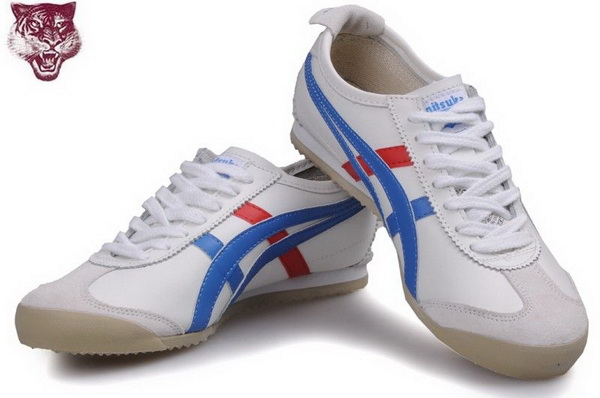 Asics Kanuchi Shoes White Blue Red