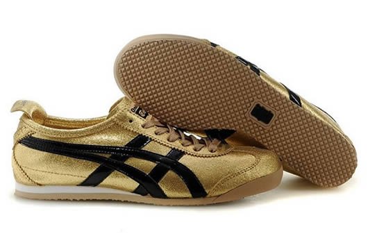 Asics Mexico 66 For womens Shoes Gold Black
