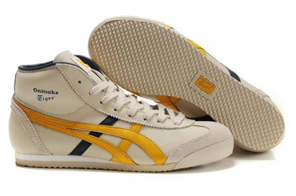 Asics Mexico 66 Mid Runner Shoes Yellow Black Beige