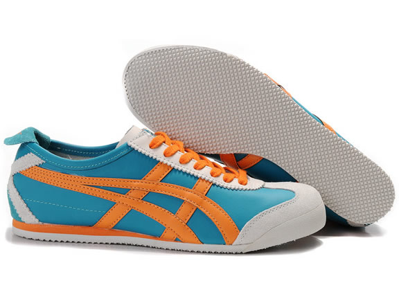 Asics Mexico 66 Shoes Orange Blue