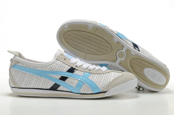 Asics Mini Cooper Shoes White Blue Black