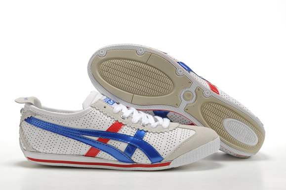Asics Mini Cooper Shoes White Blue Red