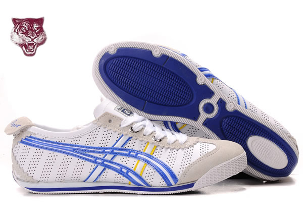 Asics Mini Cooper Shoes White Blue Yellow