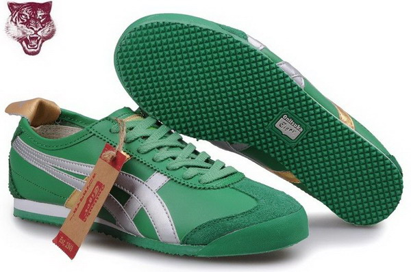 Asics Tiger Kanuchi Shoes Green Silver Gold