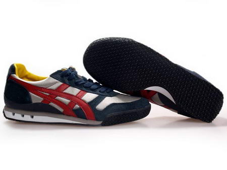 Asics 60th Anniversary Shoes White Dark Blue Red