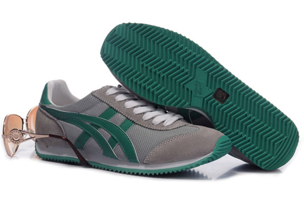 Asics California Shoes Grey Green For Womens