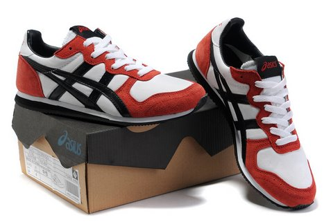 Asics Corrido Sneakers Shoes White Red Black