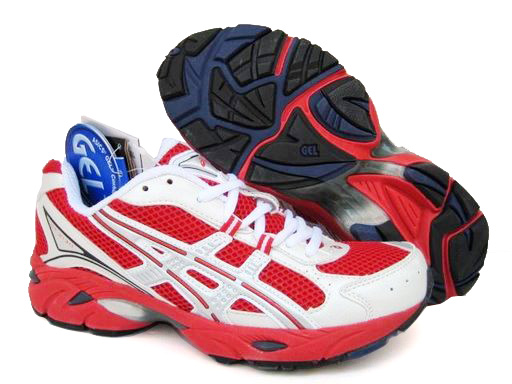 Asics Gel Duomax Shoes White Red