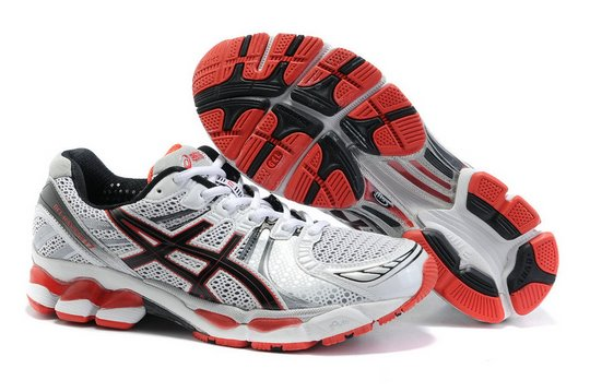 Asics GEL KAYANO 17 White Black Red Running Shoes