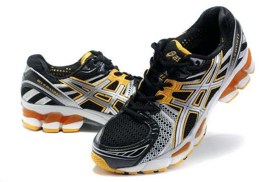 Asics GEL KAYANO 17 Running Black Yellow Shoes