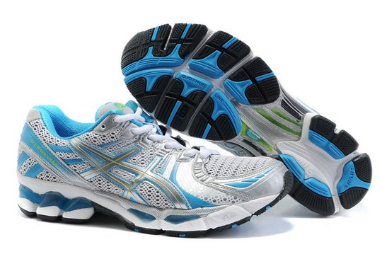 Asics GEL KAYANO 17 Running Shoes White Blue