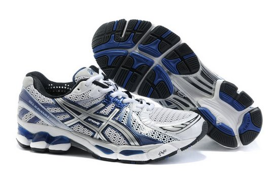 Asics GEL KAYANO 17 Running Shoes White Dark Blue