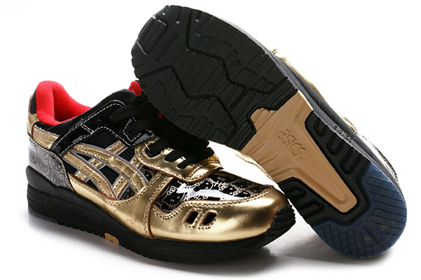 Asics Gel Lyte III Hello Kitty Shoes Gold Red Black
