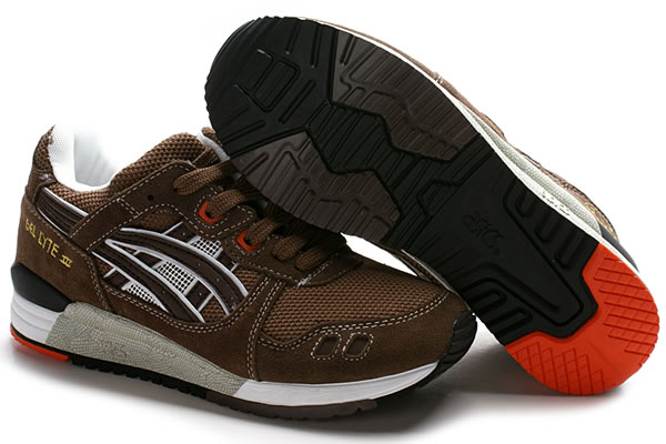 Pre Sale Asics Gel Lyte III Shoes Black White Brown
