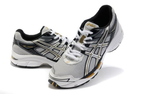 Asics Gel Virage 4 Running Shoes White Silver Yellow For Mens