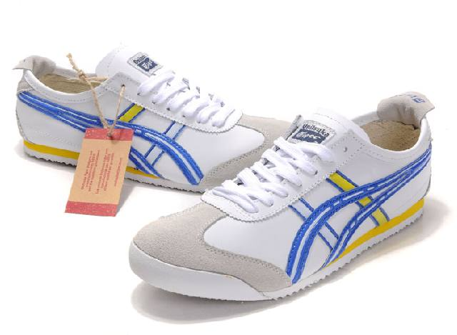 Asics Mens Onitsuka Tiger Mexico 66 Shoes White Blue