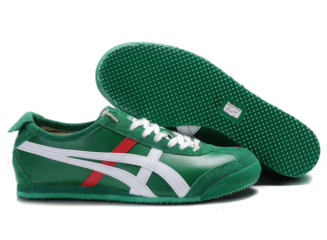 f73e6f270a43 Asics Mexico 66 Lauta Mens Shoes Green White Red