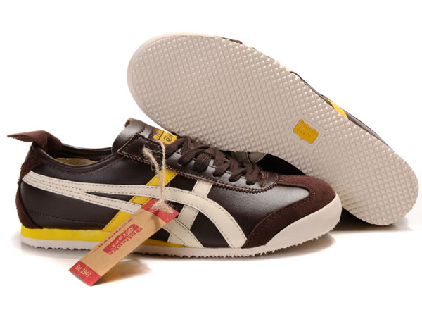 Asics Mexico 66 Lauta Shoes Brown Yellow Beige