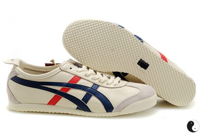Asics Mexico 66 Mens Shoes Beige Red Blue