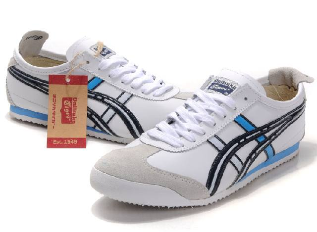 Asics Mexico 66 Mens Shoes White Black Blue