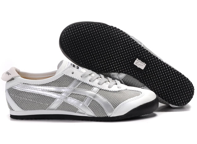 Asics Mexico 66 Shoes Black Silver White for Mens