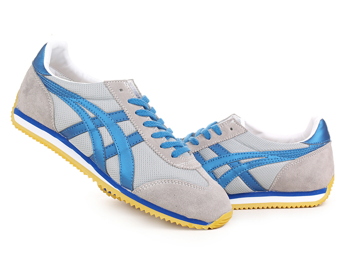 Asics Onitsuka Tiger California 78 Grey Yellow Blue Shoes