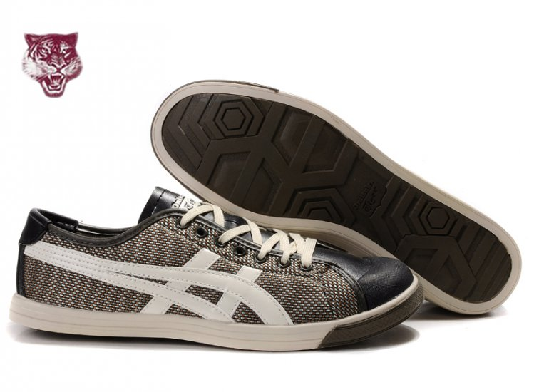 Asics Onitsuka Tiger Coolidge Lo Brown White Black Shoes