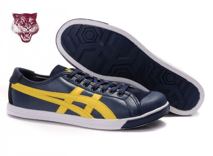 Asics Onitsuka Tiger Coolidge Lo Leather Dark Blue Yellow