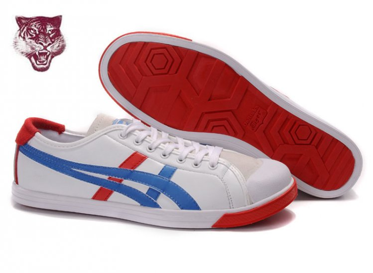 Asics Onitsuka Tiger Coolidge Lo Leather White Blue Beige