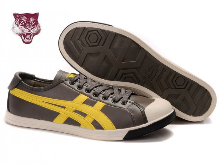 Asics Onitsuka Tiger Coolidge Lo Leather Shoes Yellow Black Brown