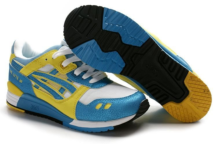 Pre Sale Asics Onitsuka Tiger Gel Lyte III Shoes Blue Yellow White