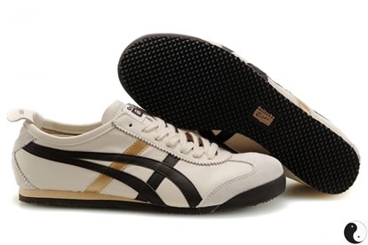 Asics Onitsuka Tiger Mexico 66 Shoes White Black Beige for Mens