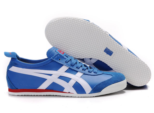 Asics Onitsuka Tiger Mexico 66 White Navy Blue Red Shoes