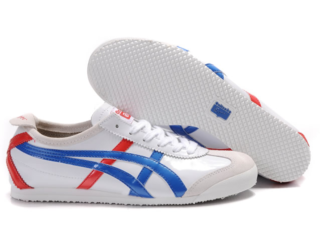 Asics Onitsuka Tiger Mexico 66 Mens Shoes White Blue Red