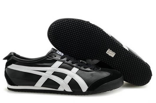 Asics Onitsuka Tiger Mexico 66 Shoes Black White for Womens