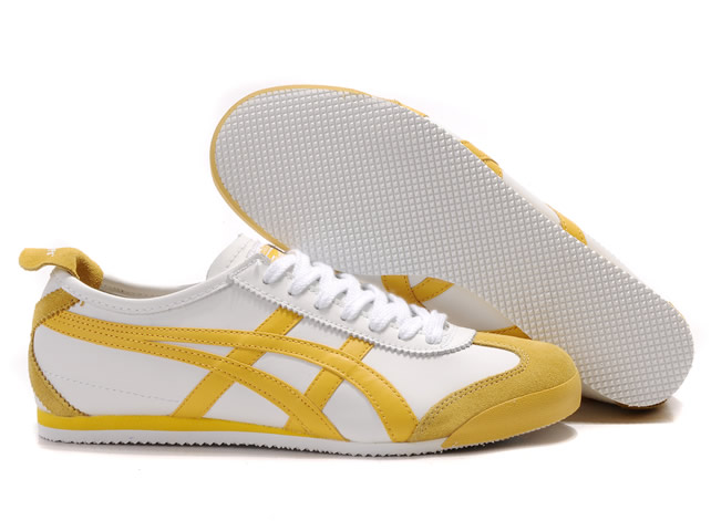 Asics Onitsuka Tiger Mexico 66 Shoes White Yellow