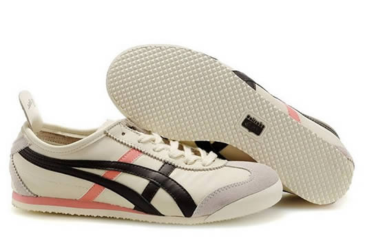 Asics Onitsuka Tiger Mexico 66 Womens Shoes Beige Brown Pink