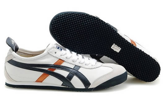 Asics Onitsuka Tiger Mexico 66 Womens Shoes White Black Gold